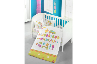 Постелъчен комплект за бебе Abacus