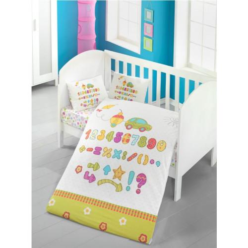 Постелъчен комплект за бебе Abacus Спални комплекти Ранфорс Бебе