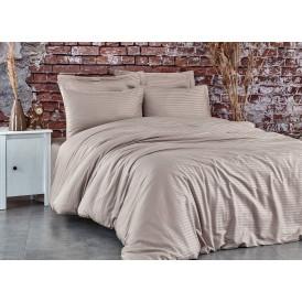 Спален комплект - 100% памук сатен - 210 нишки - Бежаво  от Ditex