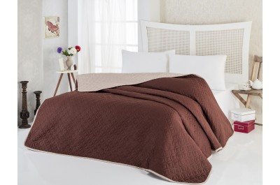 Покривка за легло Соня Капучино, две лица