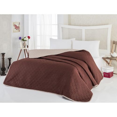 """Покривка за легло Соня Капучино, две лица Покривки за легло """"СОНЯ"""""""