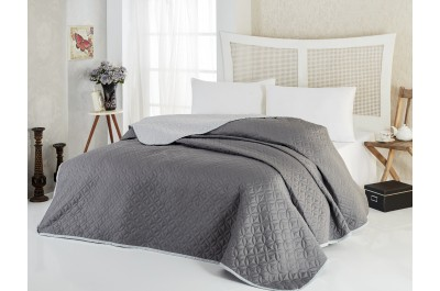 Покривка за легло Соня Графит, две лица