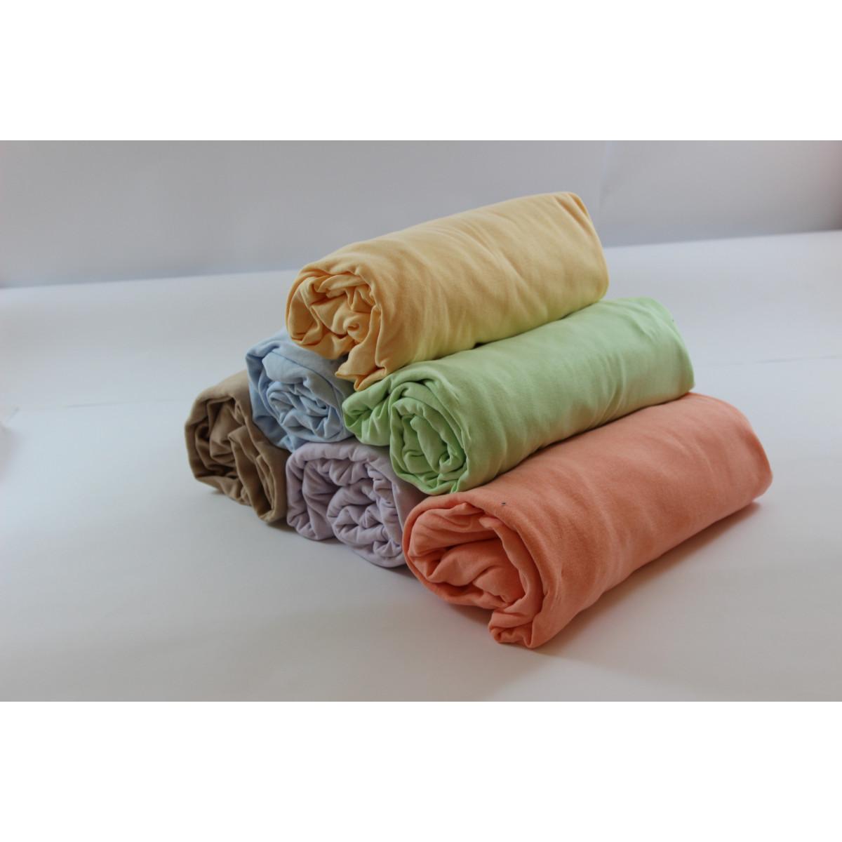 Долен чаршаф с ластик 100% памук трико
