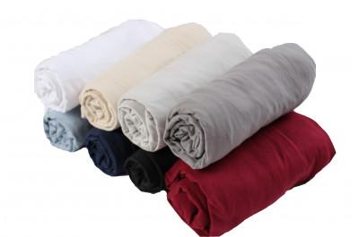 Долен чаршаф с ластик 100% памук трико - 160гр/м2 - 200х200+20см