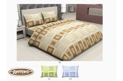Спален комплект 100% памук Хасе Квадрати