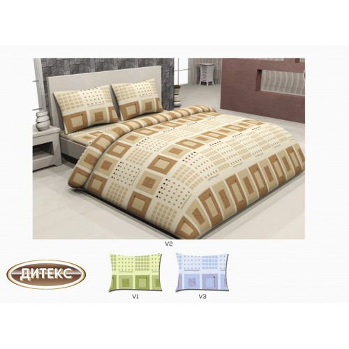 Спален комплект 100% памук Хасе Квадрати Спални комплекти Хасе