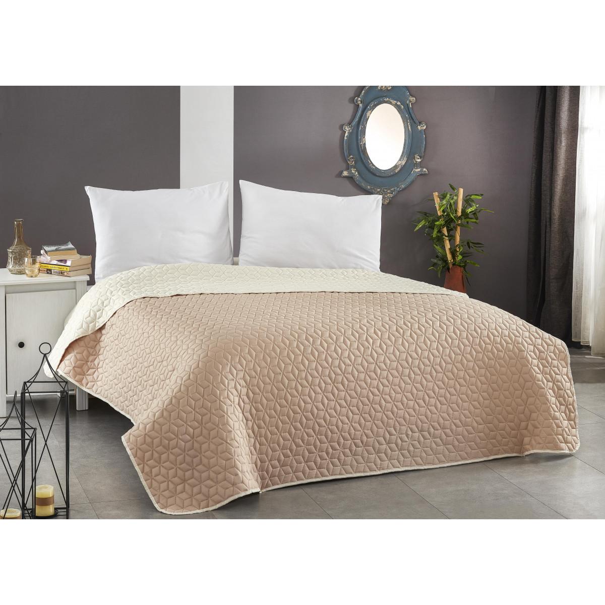 Покривало за легло ултрасоник -  ЕКРЮ