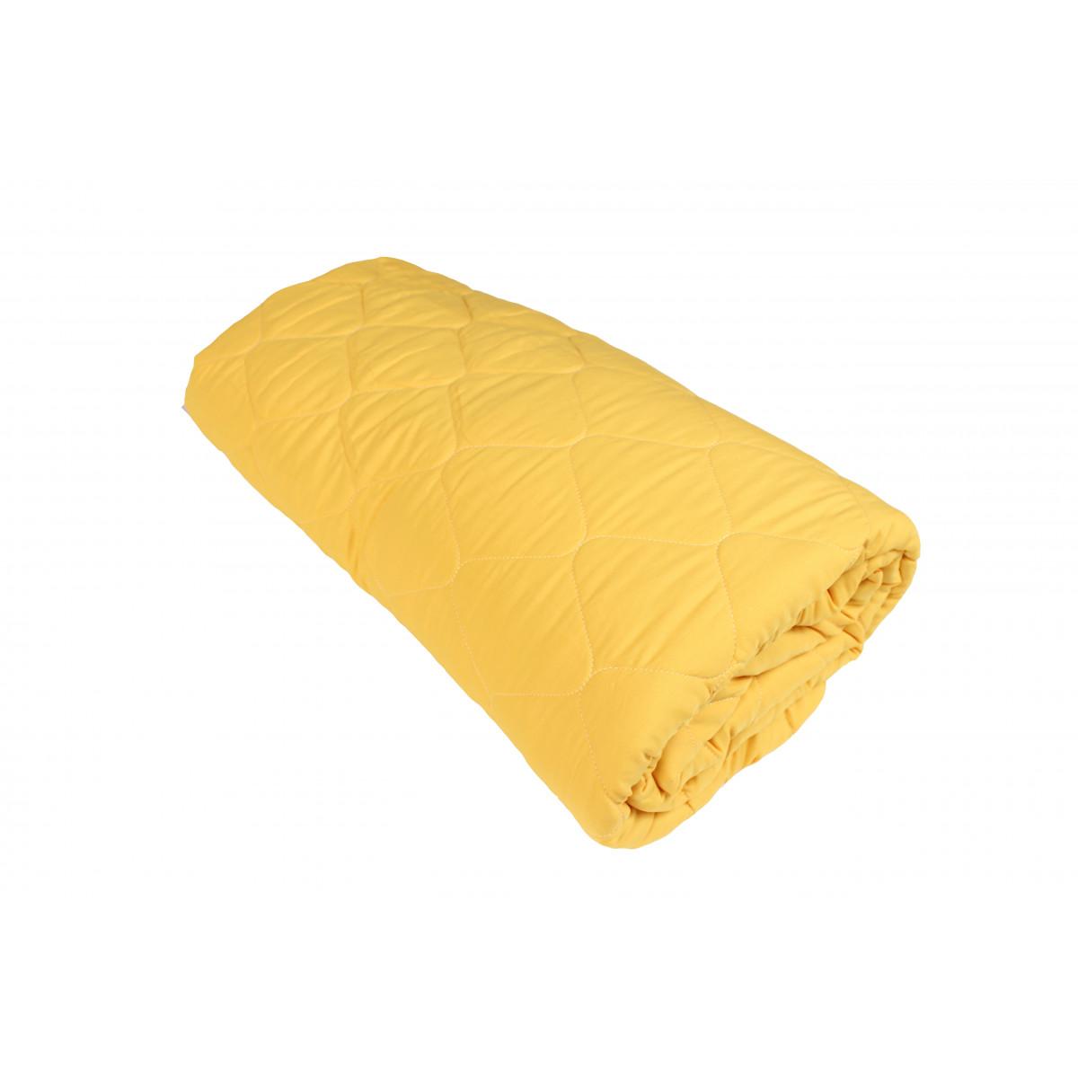 Пролетно покривало за легло 100% - полиестер 200/210 -120гр/м2 - Жълто